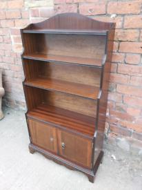 Shelving / Display Cabinet - Quality Oak 2 Shelf & 2 Door Medium Size