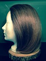 Reddish brown human hair wig