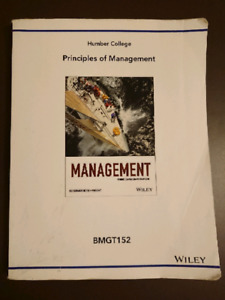 Principles of Management (Humber BMGT 152)