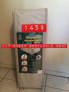 Lit queen gonflable neuf inclus base