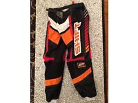 Boys motor cross trousers and gloves