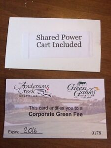 Two green fees and a shared power cart