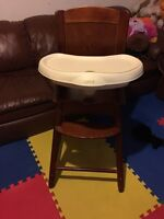 Safety first high double tray high chair