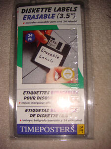 "Timeposters 60002 erasable 3.5"" diskette labels"