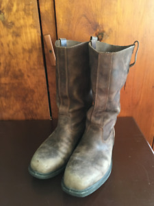 EUC Blundstone Tall Boots Rustic Brown Leather Mens 9/ladies 11
