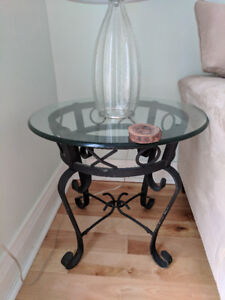Beautiful glass side tables!