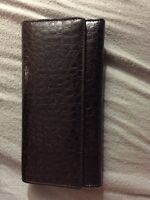 Brown wallet purse never been used