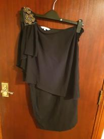 Black One Shoulder Dress New Look Size 8