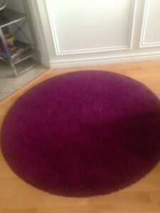Tapis rond violet ikea 40$