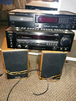 kenwood amp cd player 2 high end Paradigm speakers cheap at $50~