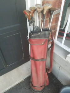 Very well loved golf clubs and bag