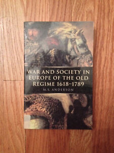 History - War and Society in Europe of the Old Regime(1618-1789)