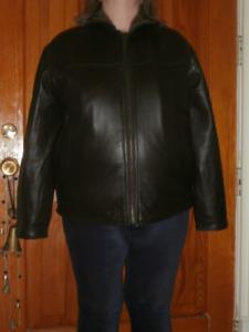 Men's Black Urban Behavior Leather Jacket