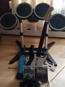 Complete Rockband Set for Wii with 2 games