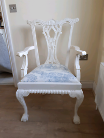 French style, shabby chic chair