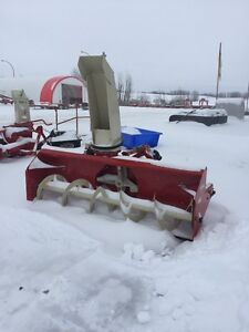 Farm King and Schulte snow blowers