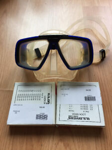 Scuba diving mask, with extra lens for myopic/U.S Divers Brand