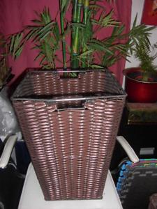 2 Tall Wicker Type Baskets