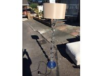 Next cut glass stand floor lamp with shade