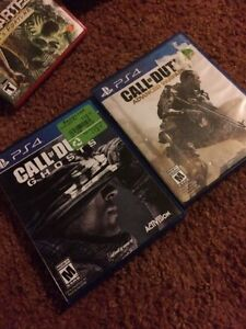 Selling cod ghost and cod aw for ps4!