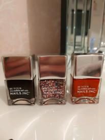 Three nails inc nail varnishes unopened