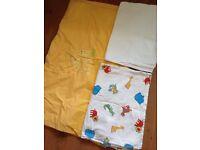 Cot duvet + duvet cover + 2 x cot mattress cover