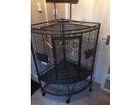 Large corner parrot bird cage