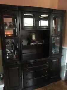 Dark wood China buffet/hutch