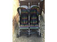 Mothercare double buggy pushchair