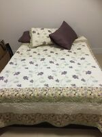Double Frame, Mattress and Mattress Topper For Sale