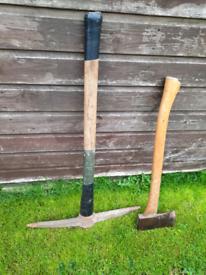 Tools pick and a axe see pics