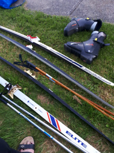 2 sets of skis and poles n one pair of boots make me an offer