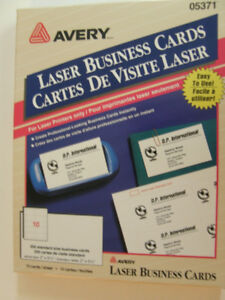 AVERY BUSINESS CARDS FOR LASER AND INKJET PRINTERS