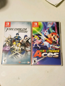 Selling Fire Emblem Warriors and Mario Tennis Aces