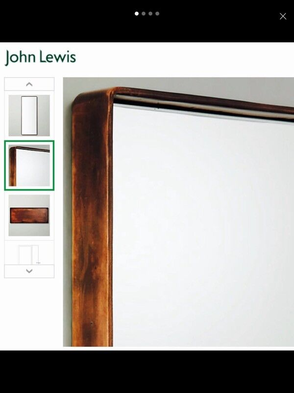 John Lewis copper industrial style rectangular mirror (2 avail) RRP £65 each