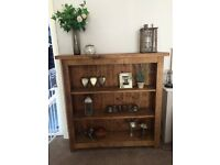 Solid chunky wooden bookcase