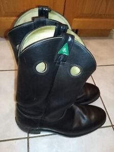 Genuine Leather Boots, CSA Green Patch, Brand New, Worth $180.00