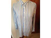 🛍Womens Paul Smith blue white shirt size 12