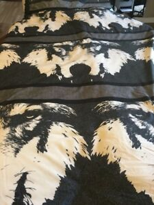 NEW Beautiful WOLF Comforter Set Queen -soft-