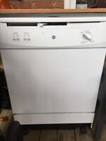 GE full size (27 inches) portable dishwasher