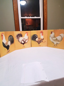 Hens and Roasters Hanging Pictures