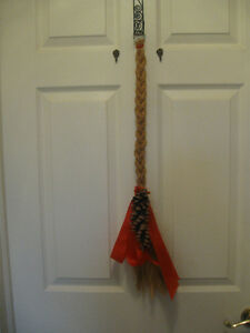 LONG COLOURFUL BRAIDED RUSTIC SISAL-ROPE DOOR HANGING