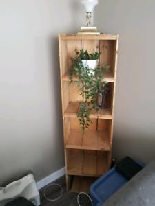 Antique pine shelves