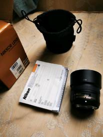 Nikon 50mm 1.8g prime Full frame lens