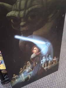 Rare authentic  movie The Clone Wars Heavy wood picture 34'