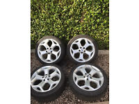 Ford Focus st 18 inch wheels and tyres
