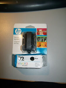 HP 02 Black print cartridge, Vivera, old but never opened