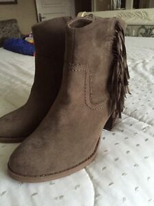 HEELED FRINGED BOOTIES BRAND NEW