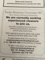 Looking For Experienced Cleaner