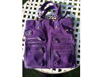Italian Letizia Leather & Suede ladies tote bag